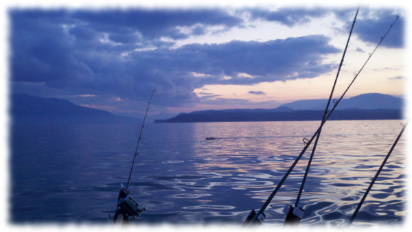 Fishing on Lake Pend Oreille